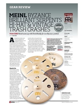 MEINL BYZANCE BRILLIANT SERPENTS HI-HAT AND VINTAGE TRASH CRASHES