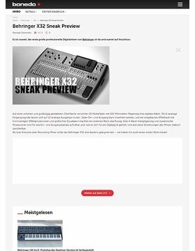 Behringer X32 Sneak Preview