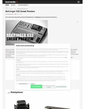 Behringer X32 Sneak Preview