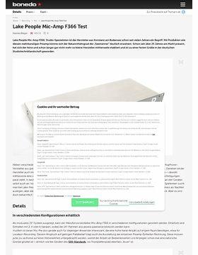 Lake People Mic-Amp F366 Test