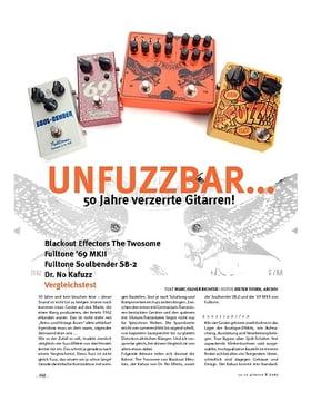 UnFUZZbar! Blackout Effectors The Twosome, Fulltone '69 MKII, Fulltone Soulbender SB-2, Dr. No Kafuzz