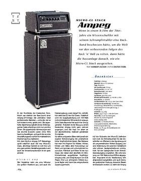 Ampeg Micro-CL Stack, Kompakt-Bass-Anlage
