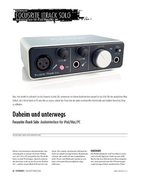 Focusrite iTrack Solo - Audiointerface für iPad, Mac und PC