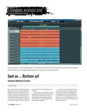 Steinberg Nuendo Live − Software-Multitrack-System