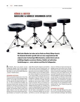 K&M Baseline und Gomezz Drummer-Sitze