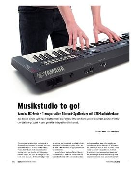 Yamaha MX-Serie – Transportabler Allround-Synthesizer mit USB-Audiointerface
