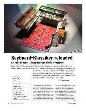 MOTU Electric Keys – Software-Instrument mit Vintage-Keyboards