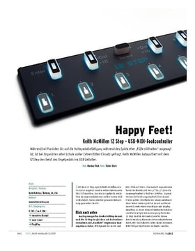 Keith McMillen 12 Step – USB-MIDI-Footcontroller