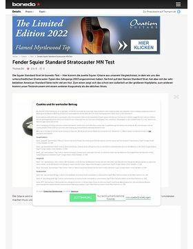 Fender Squier Standard Strat MN Test