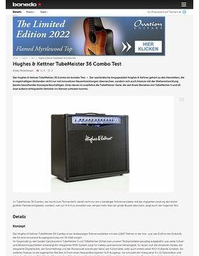Hughes & Kettner TubeMeister 36 Combo Test