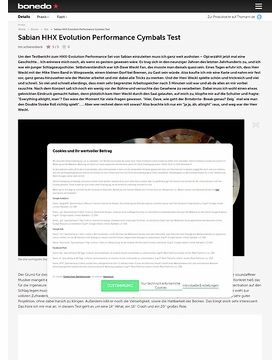 Sabian HHX Evolution Performance Cymbalset