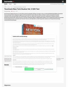 Toontrack New York Studios Vol. 3 SDX Test