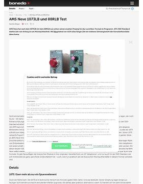 AMS Neve 1073LB und 88RLB Test
