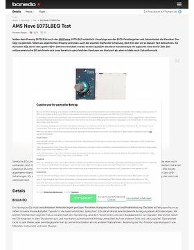 AMS Neve 1073LBEQ Test