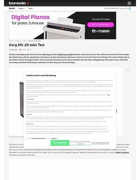 Korg MS-20 mini Test