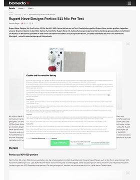 Rupert Neve Designs Portico 511 Mic Pre Test