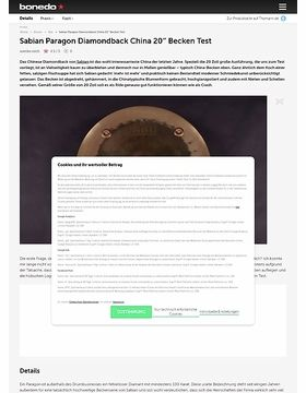 Sabian Paragon Diamondback China 20