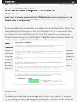 Triad-Orbit Advanced Microphone Stand Systems Test