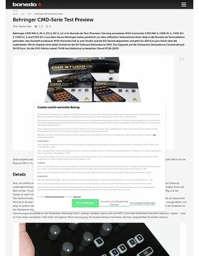 Behringer CMD-Serie Test Preview