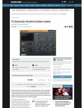TC Electronic TonePrint Editor