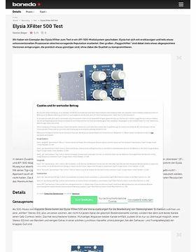 Elysia XFilter 500 Test