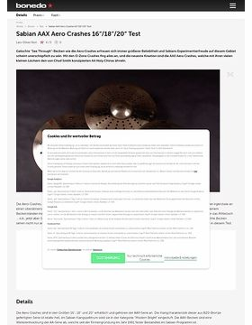 Sabian Aero Crashes Test