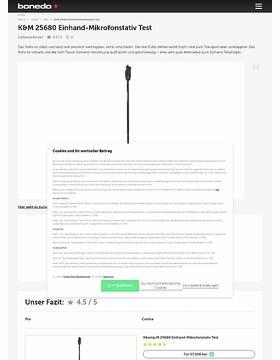 K&M 25680 Einhand-Mikrofonstativ Test