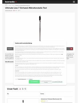 Ultimate Live-T Einhand-Mikrofonstativ Test