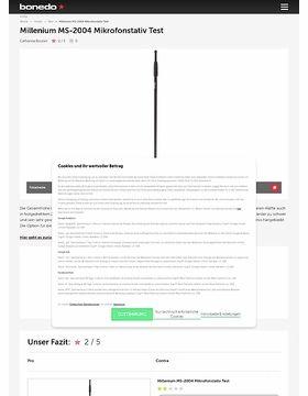 Millenium MS-2004 Mikrofonstativ Test
