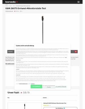 K&M 26075 Einhand-Mikrofonstativ Test