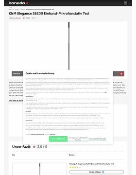 K&M Elegance 26200 Einhand-Mikrofonstativ Test