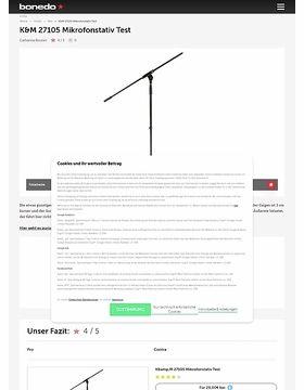 K&M 27105 Thomann Typ 1 Mikrofonstativ Test