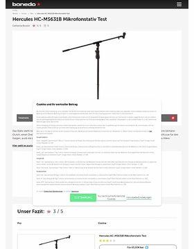 Hercules HC-MS631B Mikrofonstativ Test