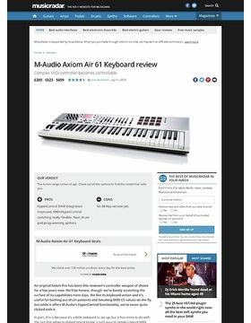 M-Audio Axiom Air 61 Keyboard