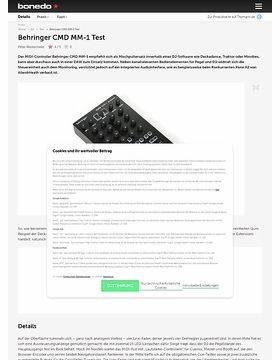 Behringer CMD MM-1 Test