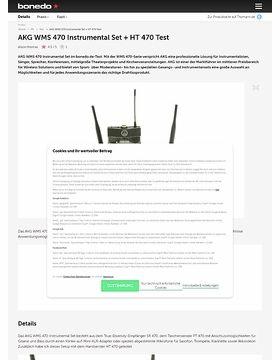 AKG WMS 470 Instrumental Set + HT 470 Test