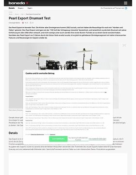 Pearl Export Drumset Test