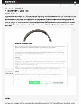 Vox amPhones Bass Test