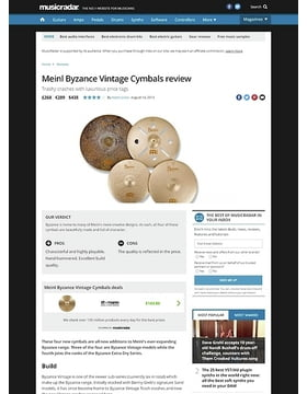 Meinl Byzance Vintage Cymbals