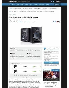 PreSonus Eris E8 monitors
