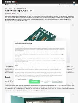 Audiowerkzeug BOOSTi Test