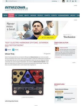 Test: Electro Harmonix Epitome, Gitarren Multieffektgerät