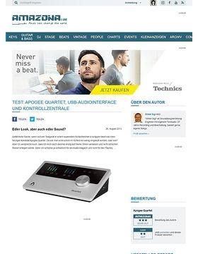 Test: Apogee Quartet, USB-Audiointerface und Kontrollzentrale