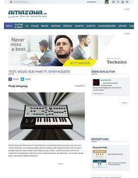 Test: Moog Sub Phatty, Synthesizer