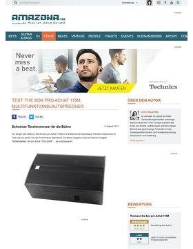 Test: the box pro Achat 115M, Multifunktionslautsprecher