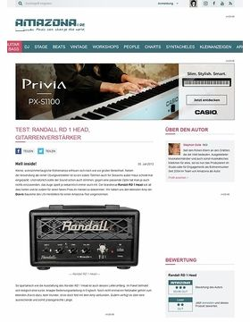 Test: Randall RD 1 Head, Gitarrenverstärker