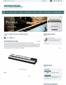 Test: Casio PX-5S, Stagepiano