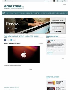 Top News: Apple stellt Logic Pro X vor
