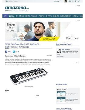 Test: Samson Graphite, USB/MIDI-Controller-Keyboard