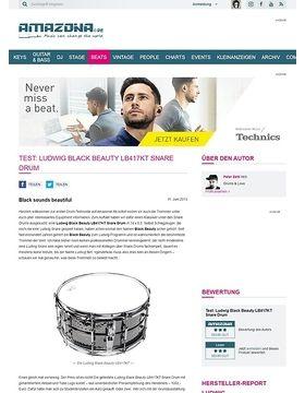 Test: Ludwig Black Beauty LB417KT Snare Drum